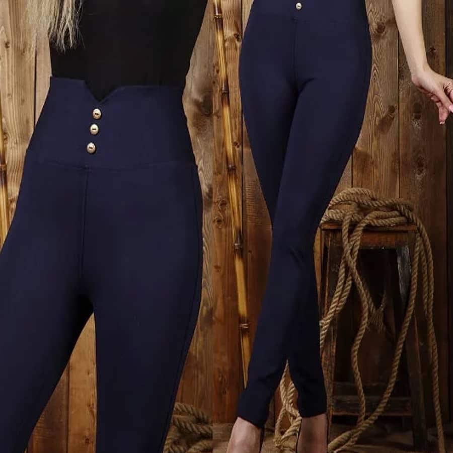 شلوار لگ زنانه راسته گن دار - کد F102