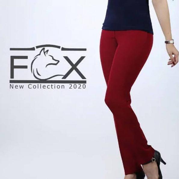 شلوار پارچه ای بوگاتی راسته زنانه - کد F119