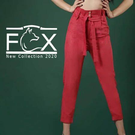 شلوار میکرو پارچه ای زنانه مام استایل پیلی دار - کد F112