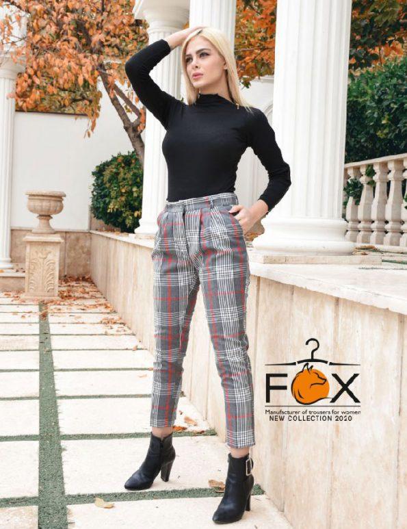 شلوار چهارخونه پشمی مدل چارلی زنانه در فروشگاه آنلاین فاکس