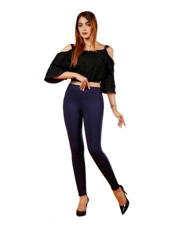 شلوار لگ زنانه جیب آمریکایی با زیپ مخفی - کد F120