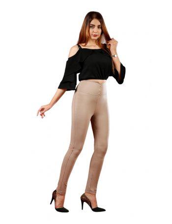 خرید عمده و تکی شلوار لگ زنانه راسته گن دار در فروشگاه آنلاین فاکس – frienddlyfox.com